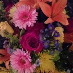 coping with losing mom, flowers, funeral, brilliant color, memorial service,