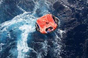 life raft, saved life, determined to live