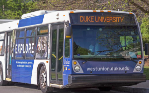 Duke, bus, bus ride